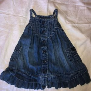 Cutest Gap Jean Button Dress | 3-6 Months